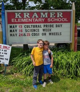 Liam and Aiden on their last day of 1st grade.